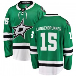 Jamie Langenbrunner Dallas Stars Men's Fanatics Branded Green Breakaway Home Jersey