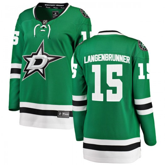 Jamie Langenbrunner Dallas Stars Women's Fanatics Branded Green Breakaway Home Jersey