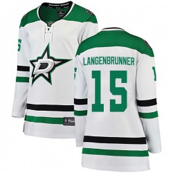 Jamie Langenbrunner Dallas Stars Women's Fanatics Branded White Breakaway Away Jersey
