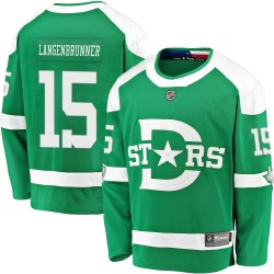 Jamie Langenbrunner Dallas Stars Youth Fanatics Branded Green 2020 Winter Classic Breakaway Jersey