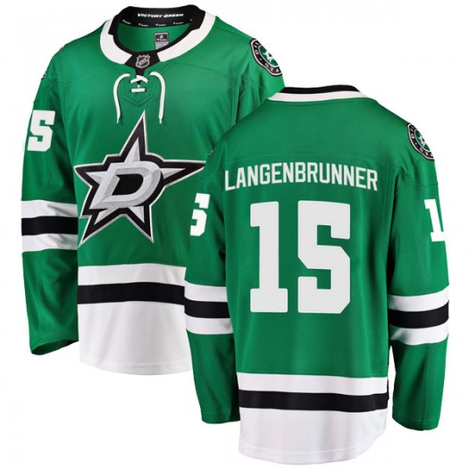 Jamie Langenbrunner Dallas Stars Youth Fanatics Branded Green Breakaway Home Jersey