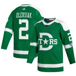 Jamie Oleksiak Dallas Stars Men's Adidas Authentic Green 2020 Winter Classic Jersey