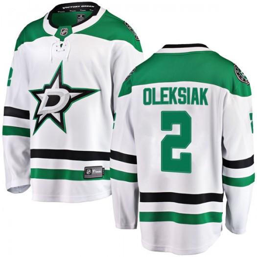 Jamie Oleksiak Dallas Stars Men's Fanatics Branded White Breakaway Away Jersey
