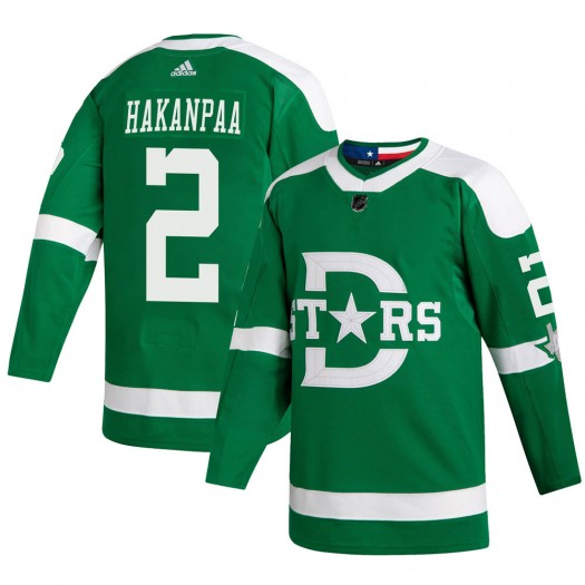 Jani Hakanpaa Dallas Stars Youth Adidas Authentic Green 2020 Winter Classic Player Jersey