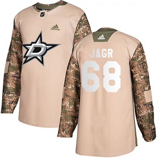 Jaromir Jagr Dallas Stars Men's Adidas Authentic Camo Veterans Day Practice Jersey