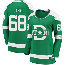 Jaromir Jagr Dallas Stars Women's Fanatics Branded Green 2020 Winter Classic Breakaway Jersey
