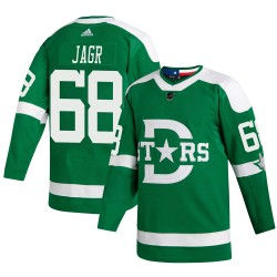 Jaromir Jagr Dallas Stars Youth Adidas Authentic Green 2020 Winter Classic Jersey