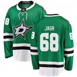 Jaromir Jagr Dallas Stars Youth Fanatics Branded Green Breakaway Home Jersey