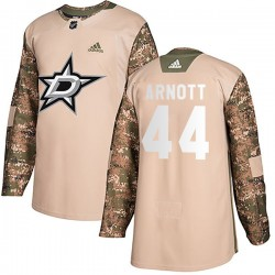 Jason Arnott Dallas Stars Men's Adidas Authentic Camo Veterans Day Practice Jersey