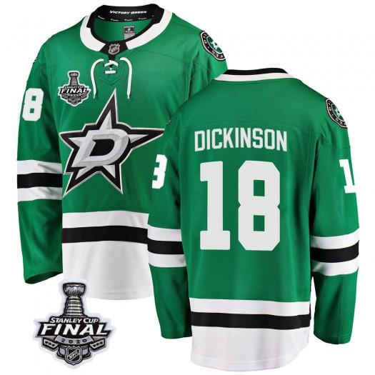 Jason Dickinson Dallas Stars Men's Fanatics Branded Green Breakaway Home 2020 Stanley Cup Final Bound Jersey
