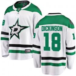 Jason Dickinson Dallas Stars Men's Fanatics Branded White Breakaway Away Jersey
