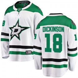 Jason Dickinson Dallas Stars Youth Fanatics Branded White Breakaway Away Jersey
