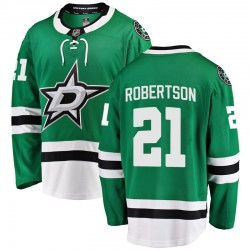 Jason Robertson Dallas Stars Youth Fanatics Branded Green Breakaway Home Jersey