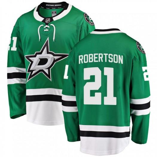 Jason Robertson Dallas Stars Youth Fanatics Branded Green Breakaway Home Jersey