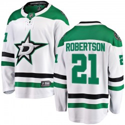 Jason Robertson Dallas Stars Youth Fanatics Branded White Breakaway Away Jersey