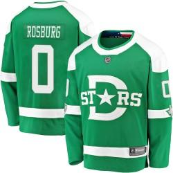 Jerad Rosburg Dallas Stars Men's Fanatics Branded Green 2020 Winter Classic Breakaway Player Jersey