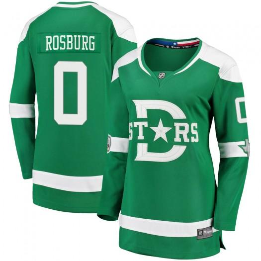 Jerad Rosburg Dallas Stars Women's Fanatics Branded Green 2020 Winter Classic Breakaway Player Jersey