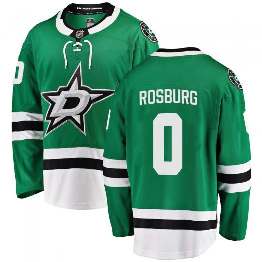 Jerad Rosburg Dallas Stars Youth Fanatics Branded Green Breakaway Home Jersey