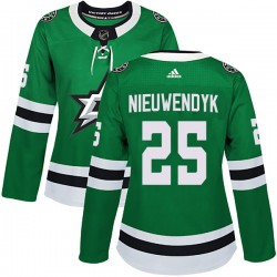 Joe Nieuwendyk Dallas Stars Women's Adidas Authentic Green Home Jersey