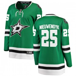 Joe Nieuwendyk Dallas Stars Women's Fanatics Branded Green Breakaway Home Jersey