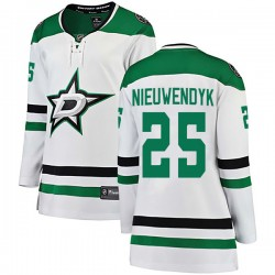 Joe Nieuwendyk Dallas Stars Women's Fanatics Branded White Breakaway Away Jersey