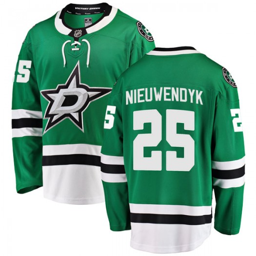 Joe Nieuwendyk Dallas Stars Youth Fanatics Branded Green Breakaway Home Jersey