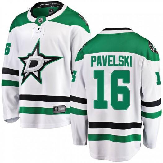 Joe Pavelski Dallas Stars Men's Fanatics Branded White Breakaway Away Jersey