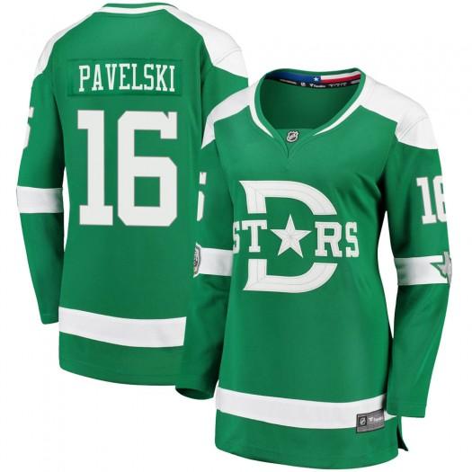 Joe Pavelski Dallas Stars Women's Fanatics Branded Green 2020 Winter Classic Breakaway Jersey