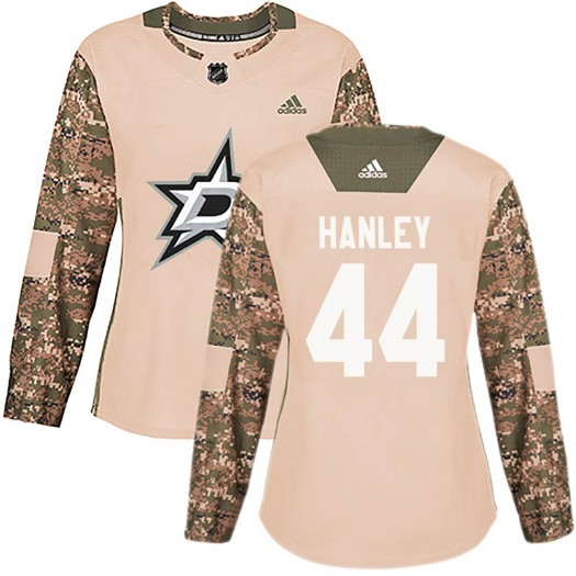 Joel Hanley Dallas Stars Women's Adidas Authentic Camo Veterans Day Practice Jersey
