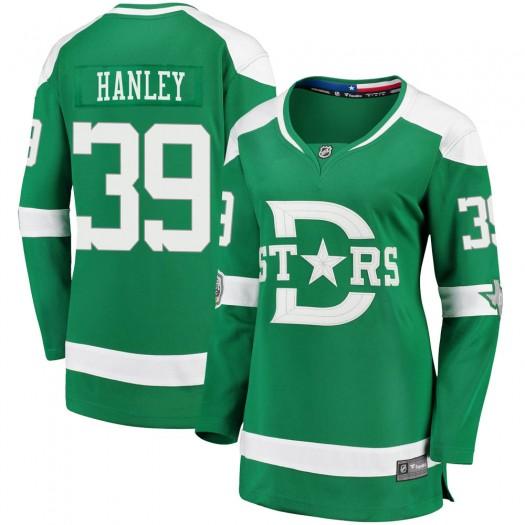 Joel Hanley Dallas Stars Women's Fanatics Branded Green ized 2020 Winter Classic Breakaway Player Jersey