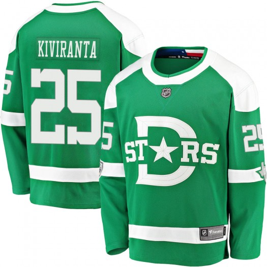 Joel Kiviranta Dallas Stars Men's Fanatics Branded Green 2020 Winter Classic Breakaway Jersey