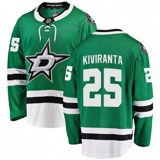 Joel Kiviranta Dallas Stars Men's Fanatics Branded Green Breakaway Home Jersey