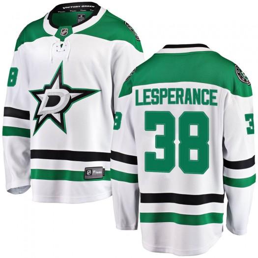 Joel LEsperance Dallas Stars Men's Fanatics Branded White Breakaway Away Jersey