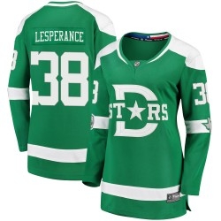 Joel LEsperance Dallas Stars Women's Fanatics Branded Green 2020 Winter Classic Breakaway Player Jersey