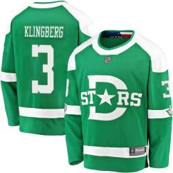 John Klingberg Dallas Stars Men's Fanatics Branded Green 2020 Winter Classic Breakaway Jersey