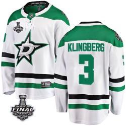 John Klingberg Dallas Stars Men's Fanatics Branded White Breakaway Away 2020 Stanley Cup Final Bound Jersey