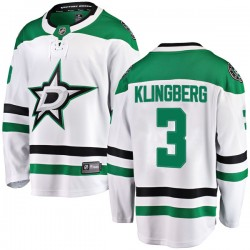 John Klingberg Dallas Stars Men's Fanatics Branded White Breakaway Away Jersey