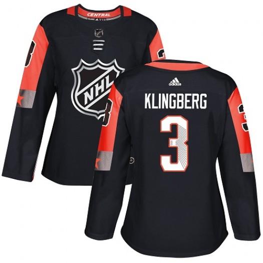John Klingberg Dallas Stars Women's Adidas Authentic Black 2018 All-Star Central Division Jersey