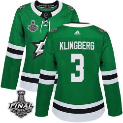 John Klingberg Dallas Stars Women's Adidas Authentic Green Home 2020 Stanley Cup Final Bound Jersey