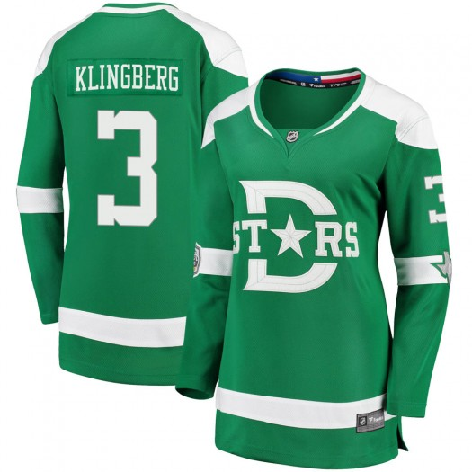 John Klingberg Dallas Stars Women's Fanatics Branded Green 2020 Winter Classic Breakaway Jersey