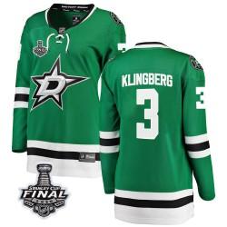 John Klingberg Dallas Stars Women's Fanatics Branded Green Breakaway Home 2020 Stanley Cup Final Bound Jersey