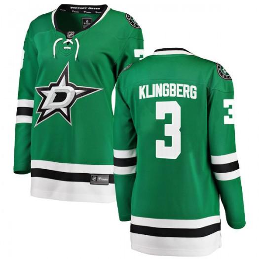 John Klingberg Dallas Stars Women's Fanatics Branded Green Breakaway Home Jersey
