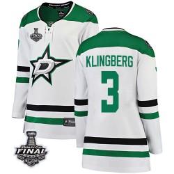 John Klingberg Dallas Stars Women's Fanatics Branded White Breakaway Away 2020 Stanley Cup Final Bound Jersey