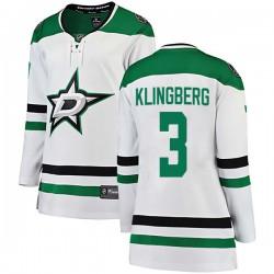 John Klingberg Dallas Stars Women's Fanatics Branded White Breakaway Away Jersey