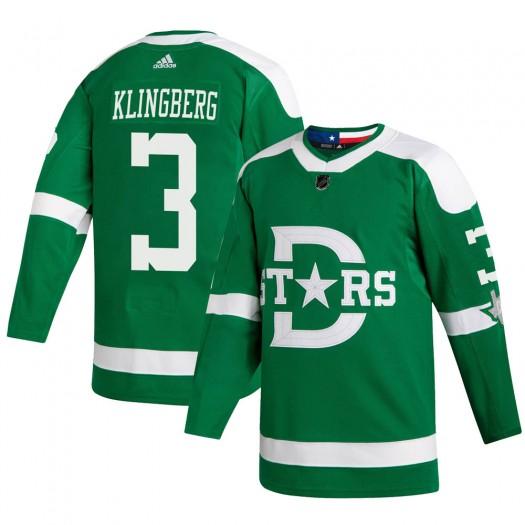 John Klingberg Dallas Stars Youth Adidas Authentic Green 2020 Winter Classic Jersey