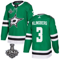 John Klingberg Dallas Stars Youth Adidas Authentic Green Home 2020 Stanley Cup Final Bound Jersey