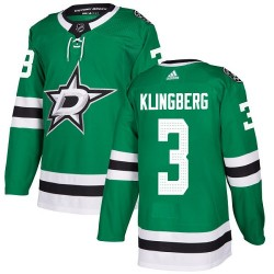 John Klingberg Dallas Stars Youth Adidas Authentic Green Home Jersey