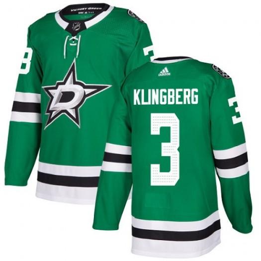 John Klingberg Dallas Stars Youth Adidas Authentic Green Home Jersey