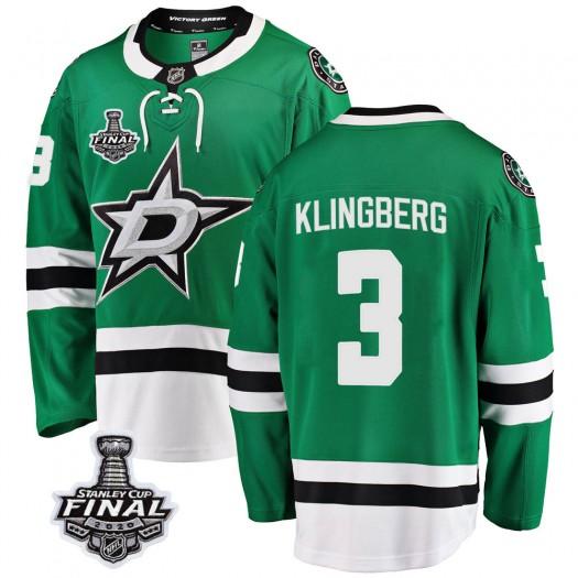 John Klingberg Dallas Stars Youth Fanatics Branded Green Breakaway Home 2020 Stanley Cup Final Bound Jersey