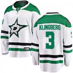John Klingberg Dallas Stars Youth Fanatics Branded White Breakaway Away Jersey